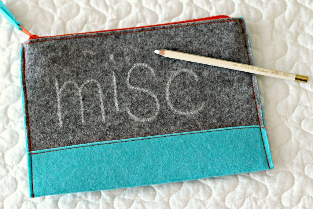 Embroidery Felt Pouch chalk pencil