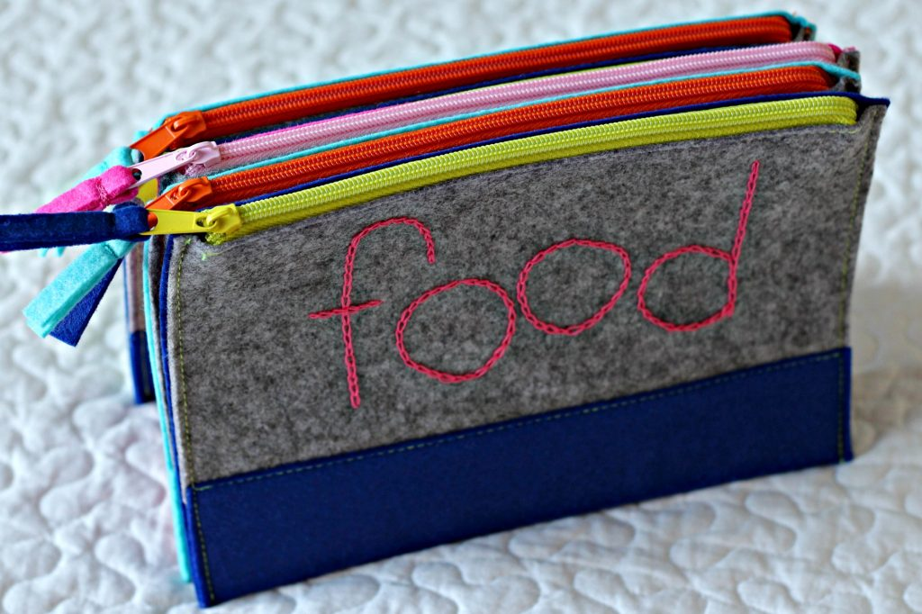Embroidery Felt Pouch lettering