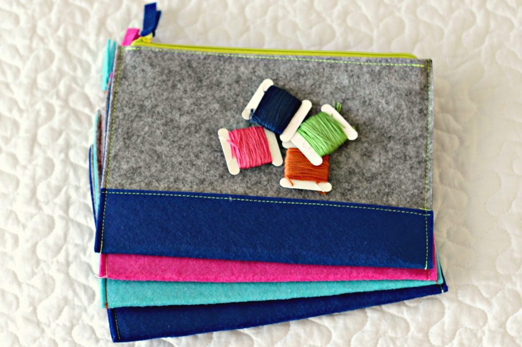 Embroidery Felt Pouch supplies