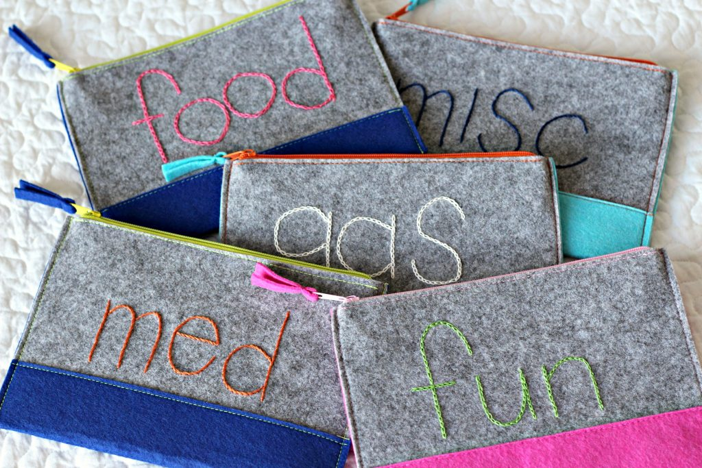 Embroidery Felt Pouches envelopes