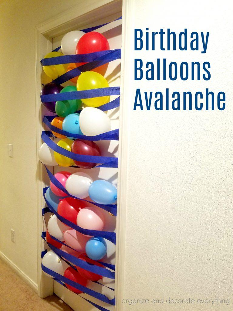 Birthday Balloons Avalanche