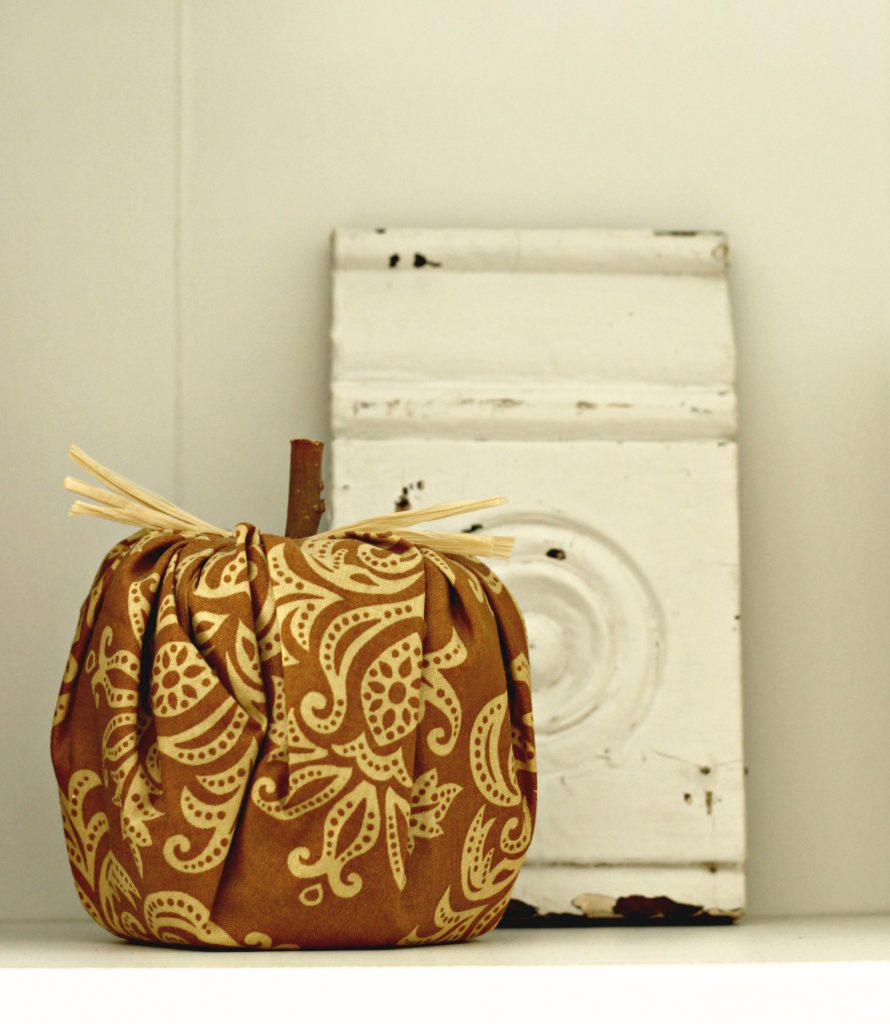 Fall Home Tour fabric pumpkin