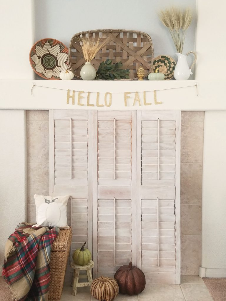 Fall Home Tour fireplace mantel