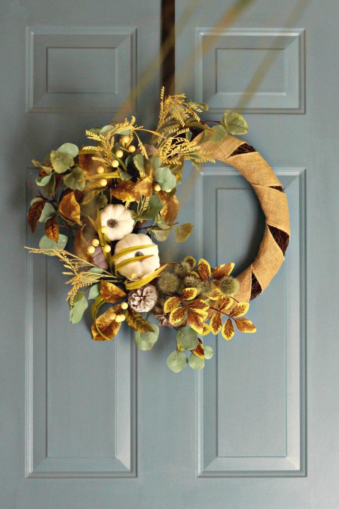 Fall Home Tour front door wreath