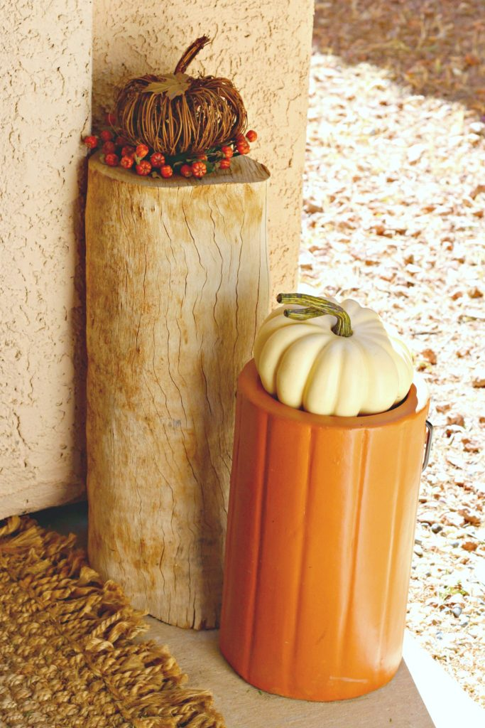 Fall Home Tour front porch log