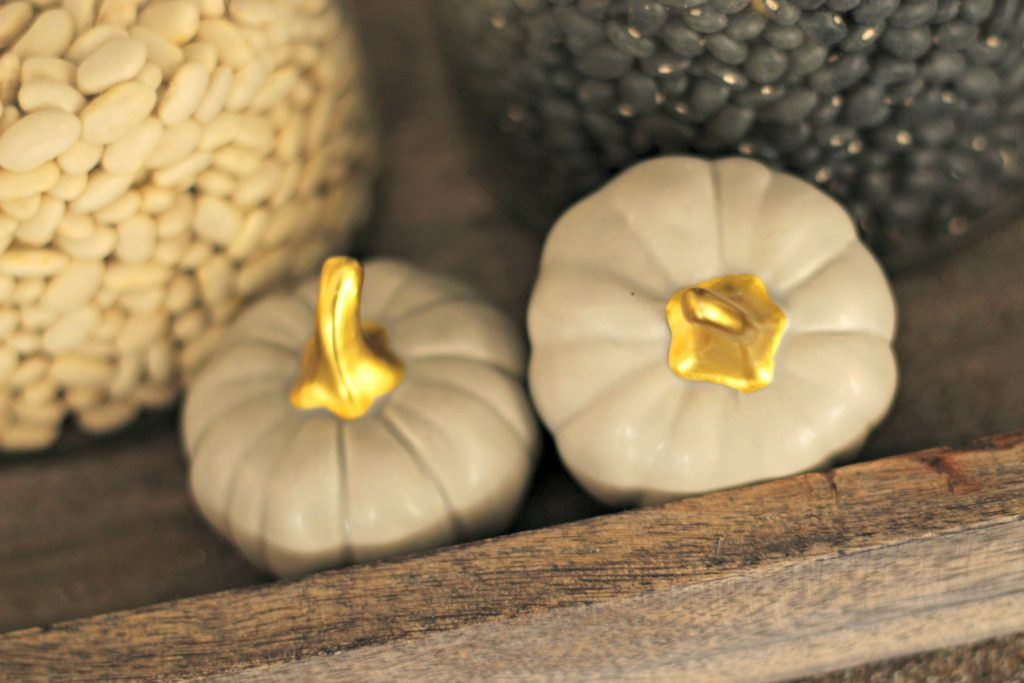 Fall Home Tour gray pumpkins
