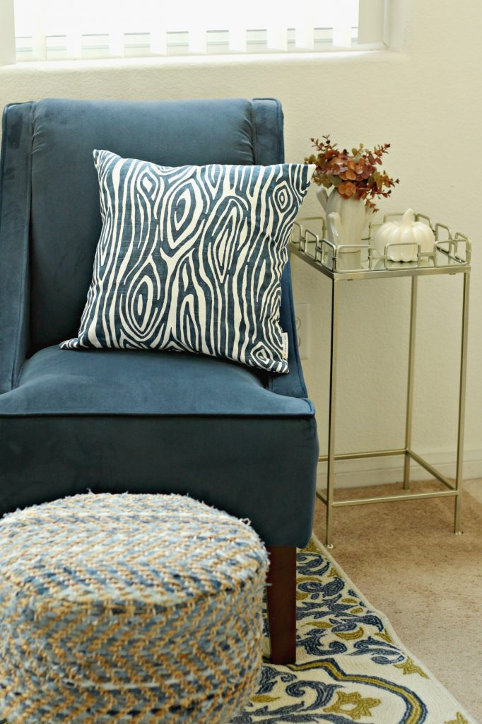 Fall Home Tour living room chair and table