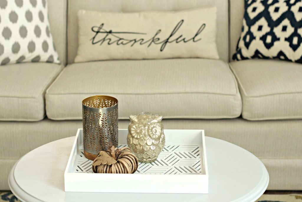 Fall Home Tour living room table