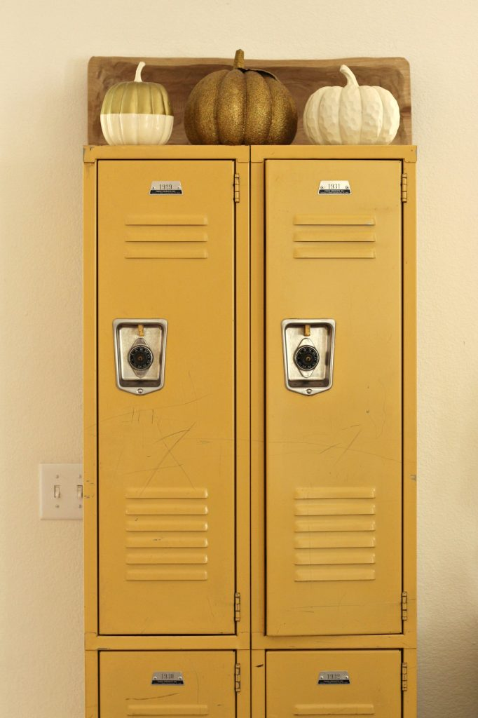 Fall Home Tour lockers