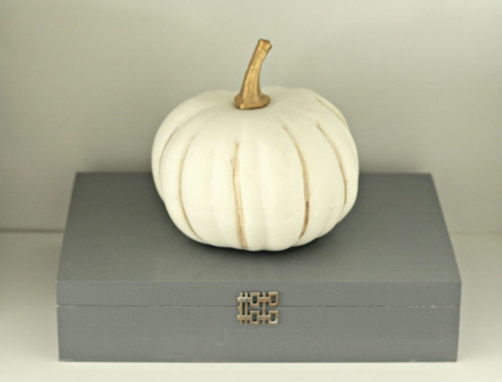 Fall Home Tour pumpkin and box