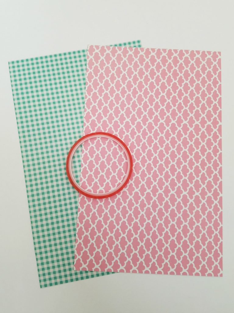 Grocery Bag Storage patterned paper