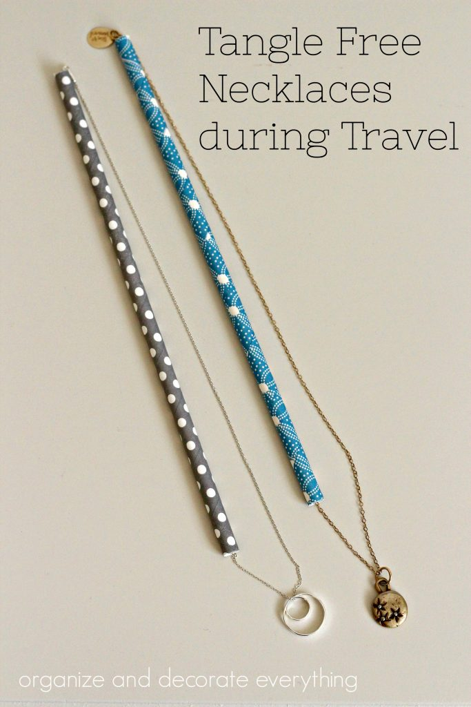 Keep Necklaces Tangle Free during Travel