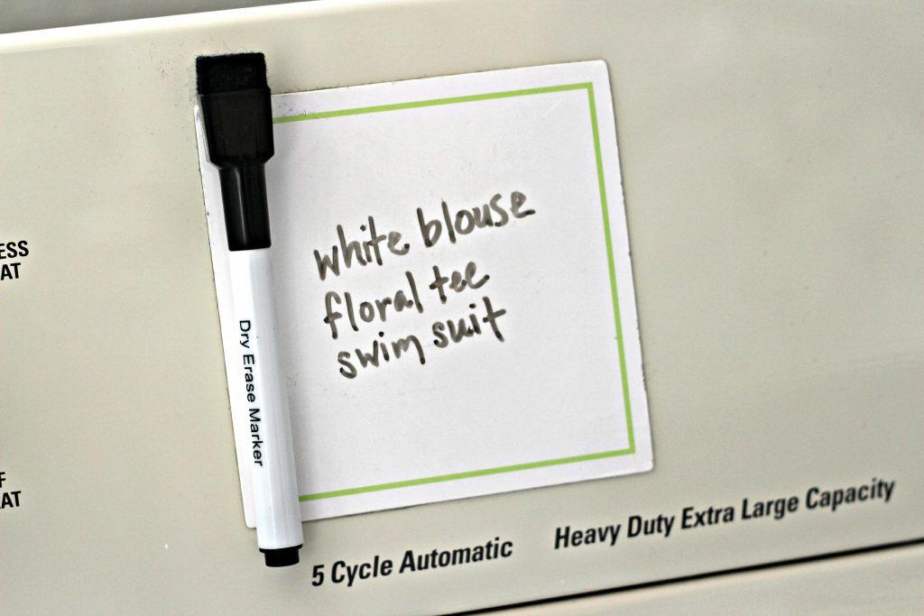 Laundry Room Dry Erase Pad