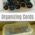 Organizing Cords – 31 Days of Organizing and Cleaning Hacks