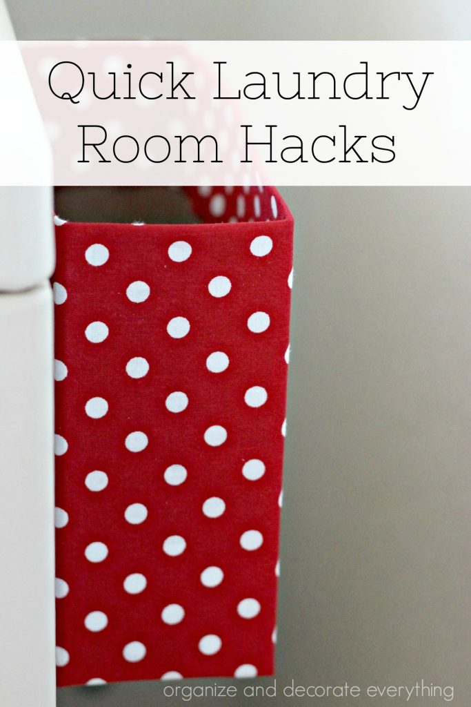 Quick and Easy Laundry Room Hacks