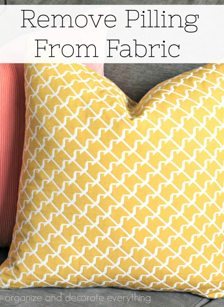 Remove Pilling from Fabric to make them look new again