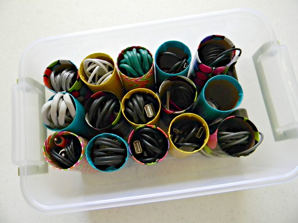 Organizing Cords top view