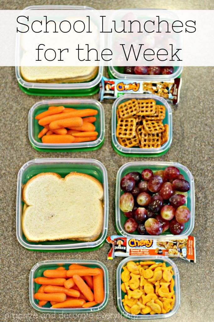 School Lunches for the Week