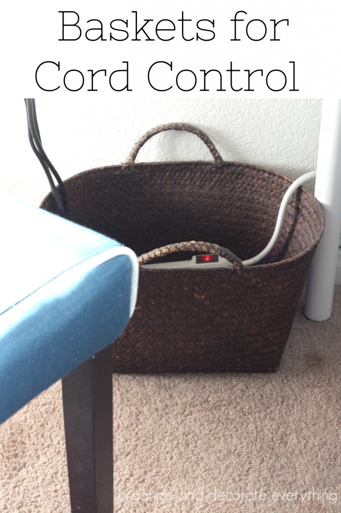 Baskets for Cord Control