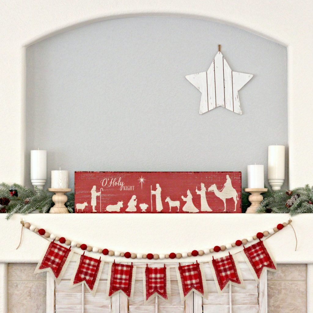 O Holy Night mantel 3