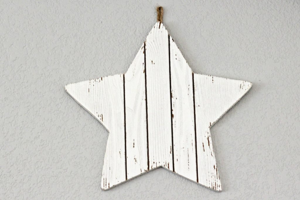 O Holy Night wood star