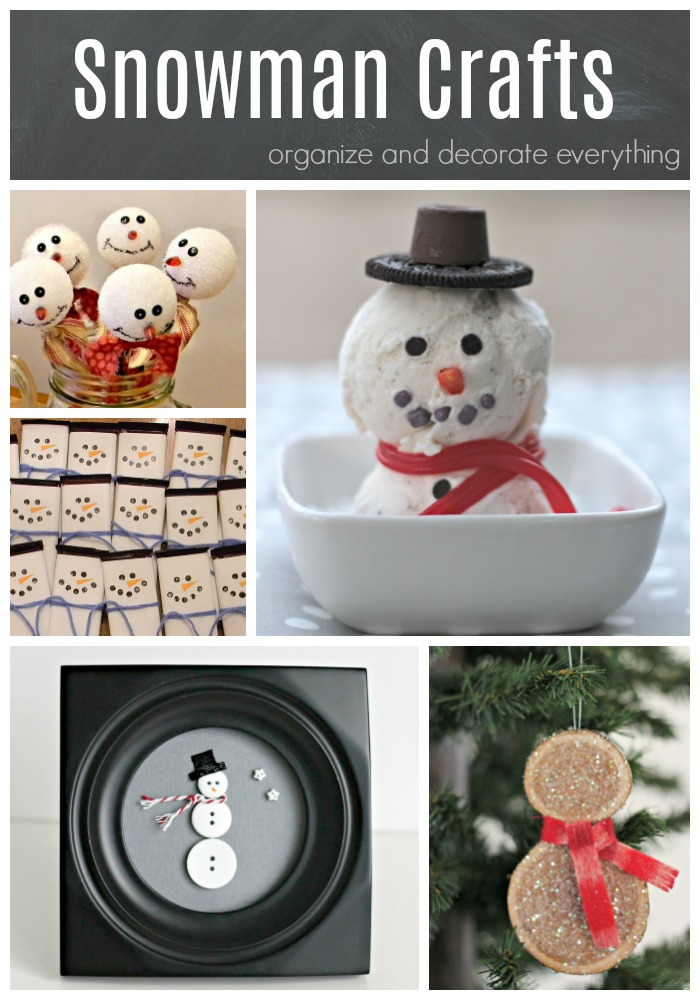 Snowman Crafts Decorations and Gift Ideas