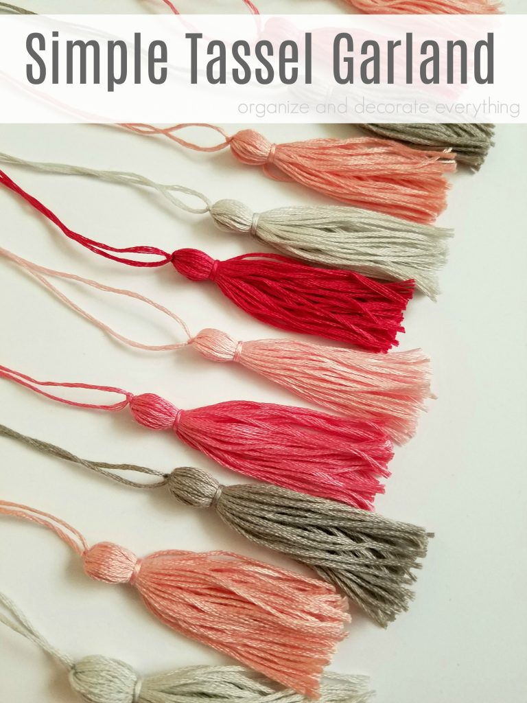 Simple Tassel Garland made out of Embroidery Floss