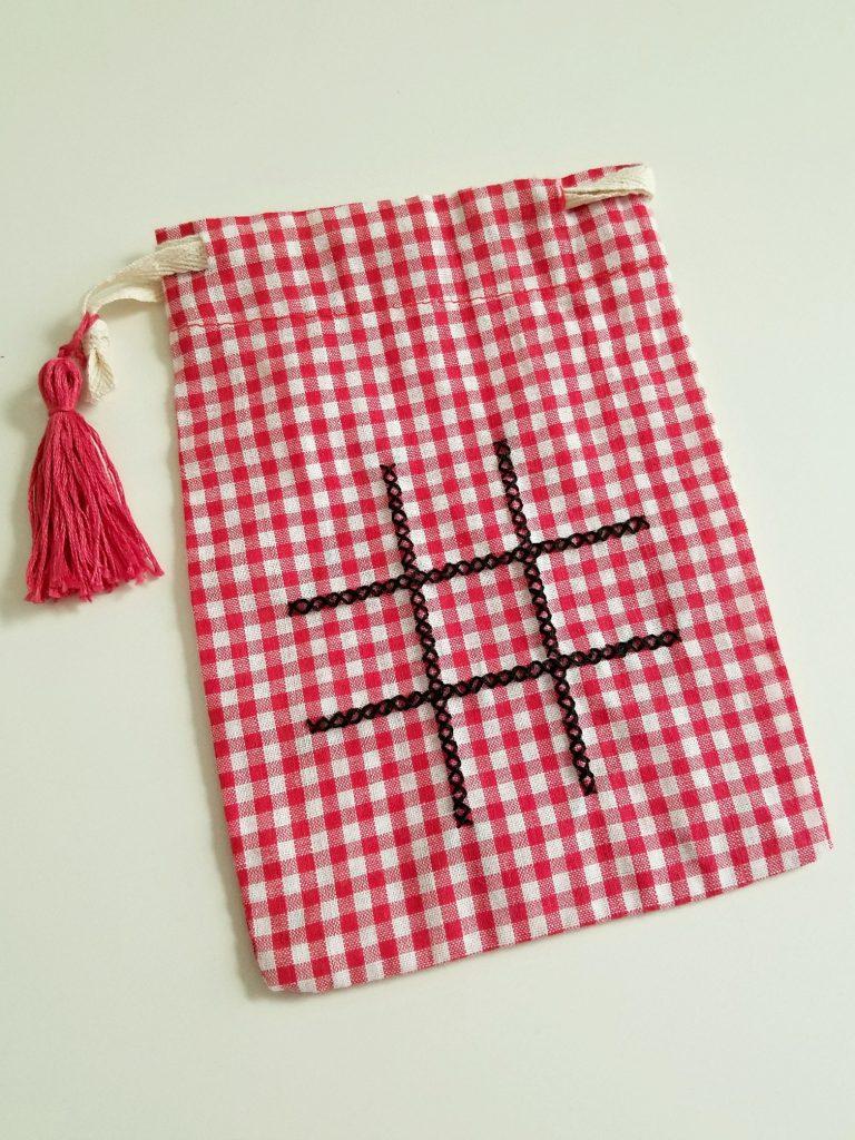 Tic Tac Toe Bag cross stitch