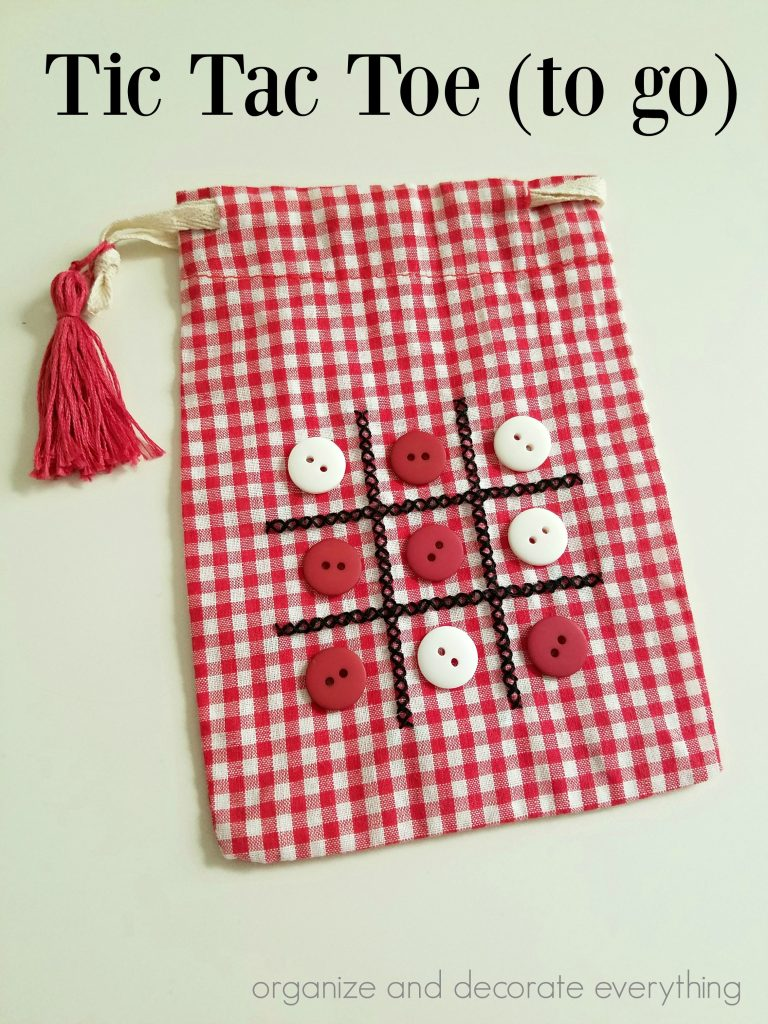 Tic Tac Toe Bag for fun on the go