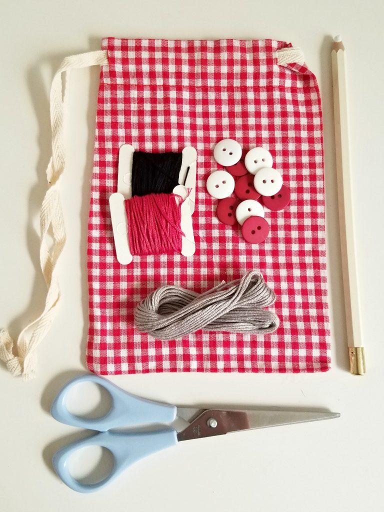 Tic Tac Toe Bag supplies
