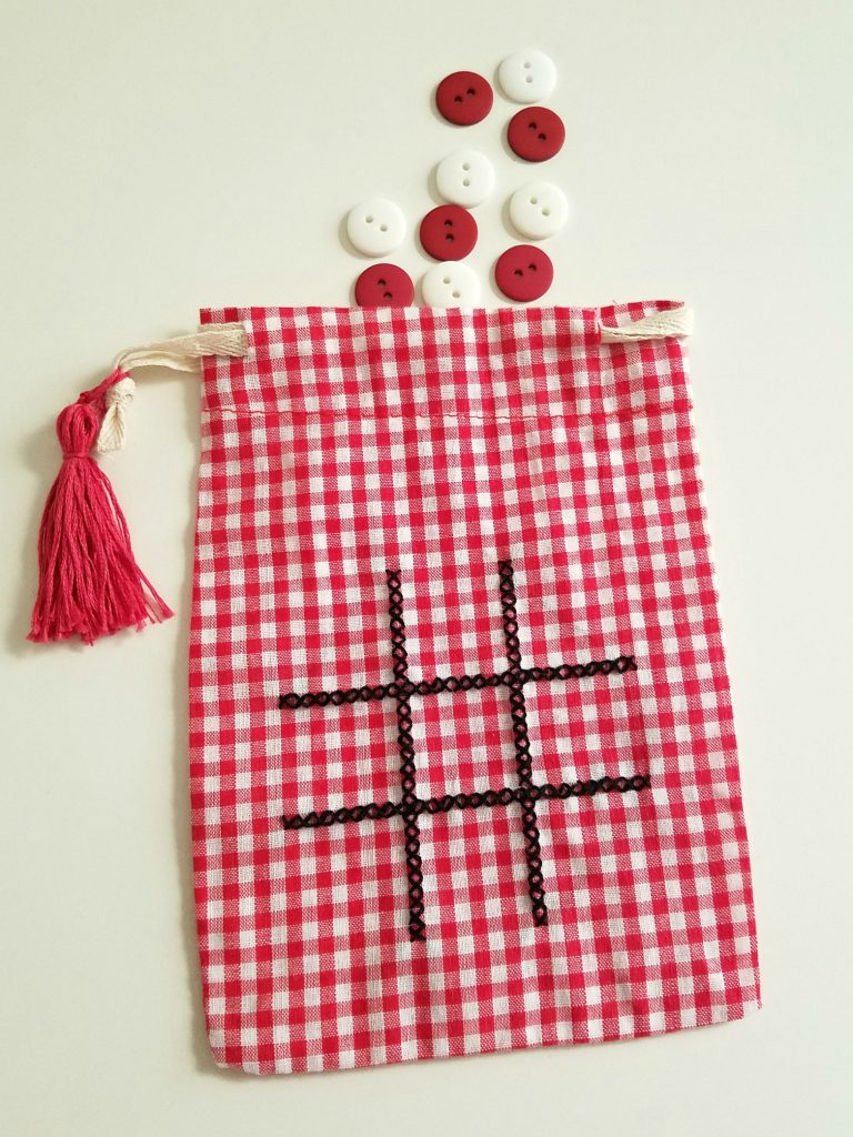 Tic Tac Toe Bag with buttons