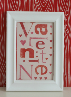 Valentines Day Framed Card
