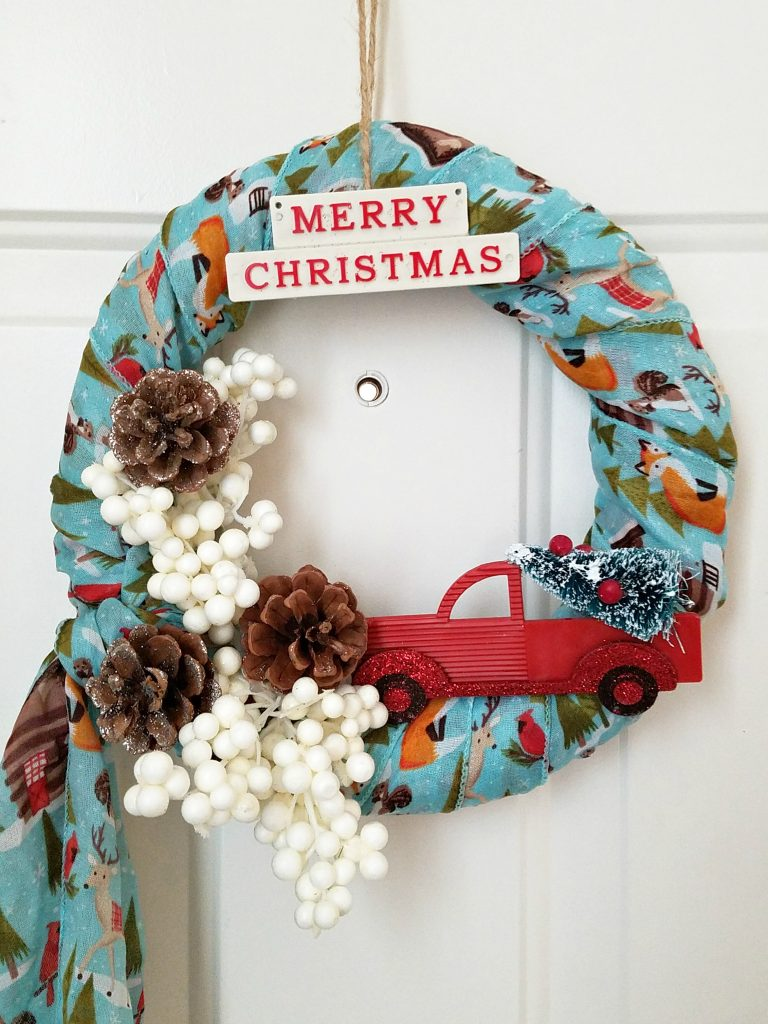 Woodland Scarf Wreath