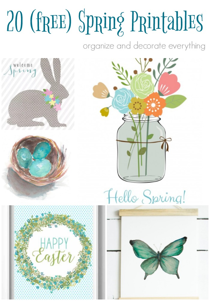 20 Favorite Free Spring Printables