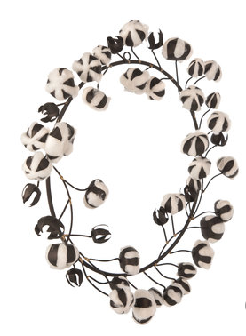 Metal and Cotton Wreath