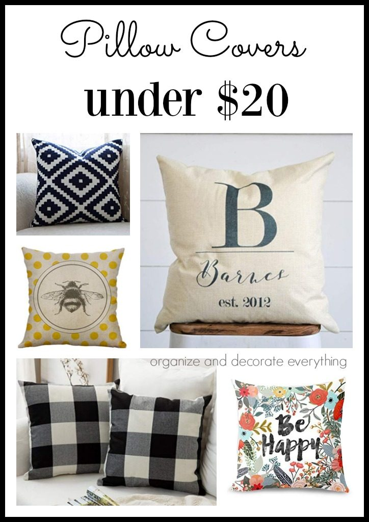 Pillow Covers from Under 20