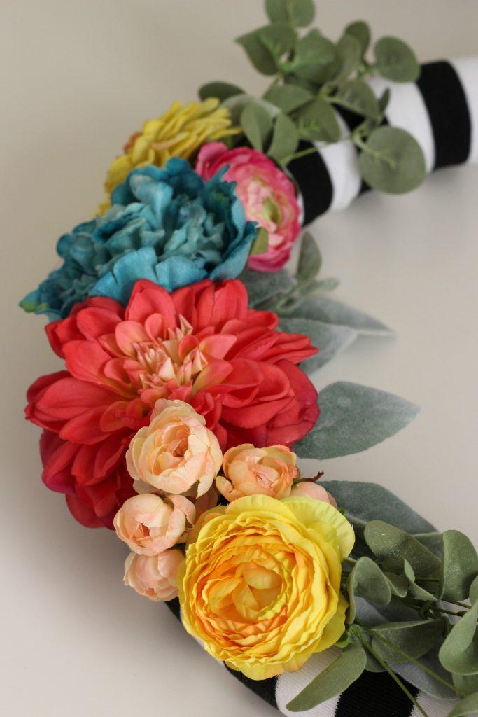 Spring florals on wreath