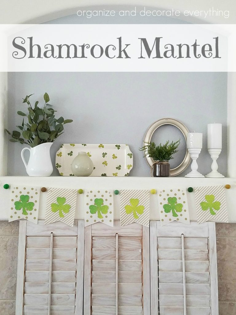 St Patricks Day Shamrock Mantel