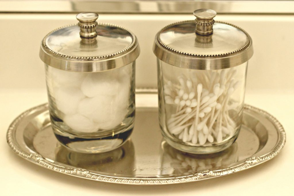 Bathroom Update glass containers