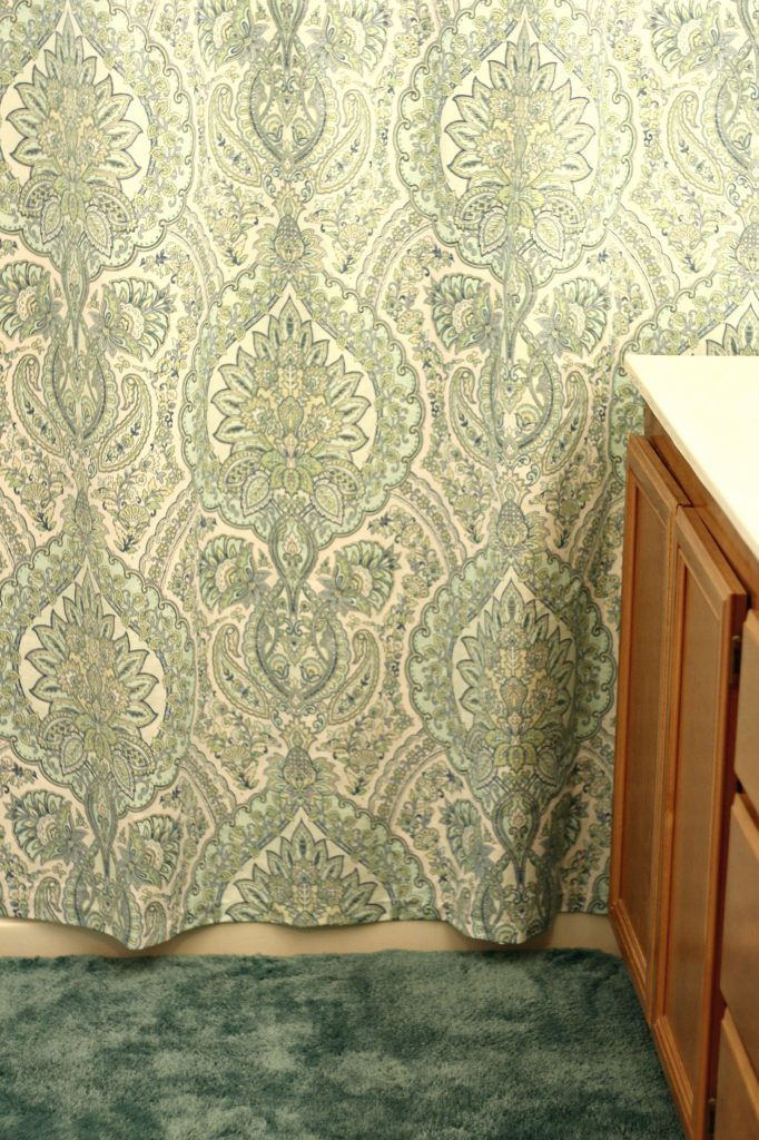 Bathroom Update shower curtain and rug