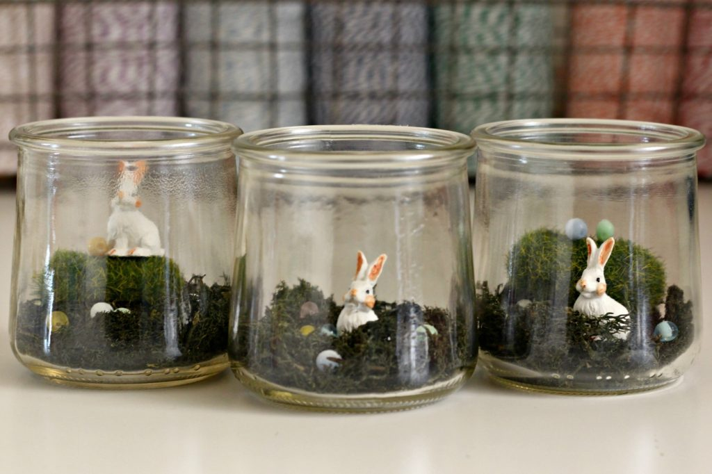 Mini Bunny Terrarium in Jars