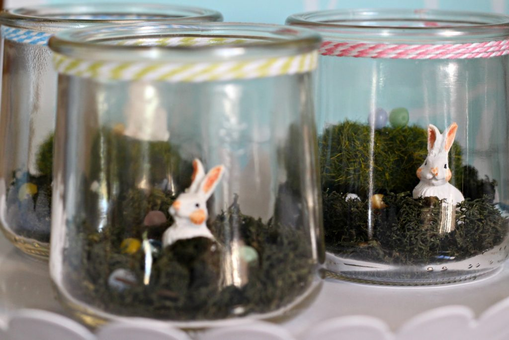 Mini Bunny Terrariums for Easter