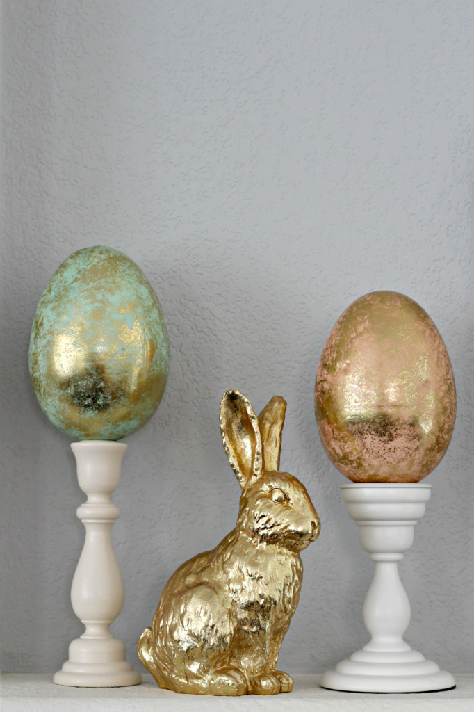 Easter mantel gold bunny
