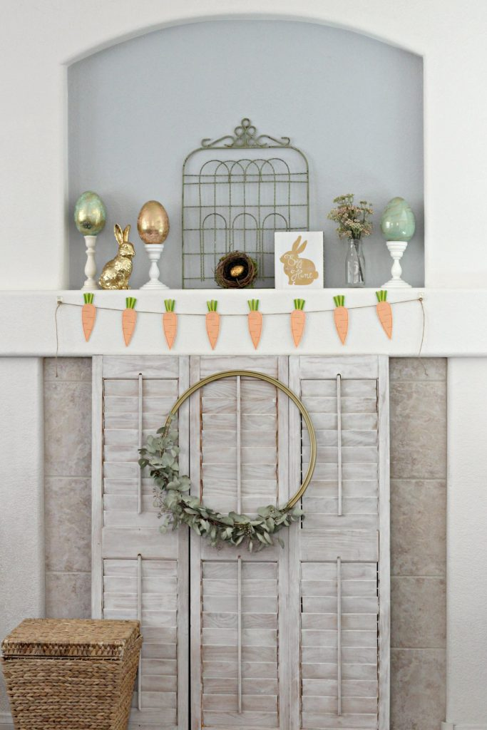 Easter Mantel with shutters
