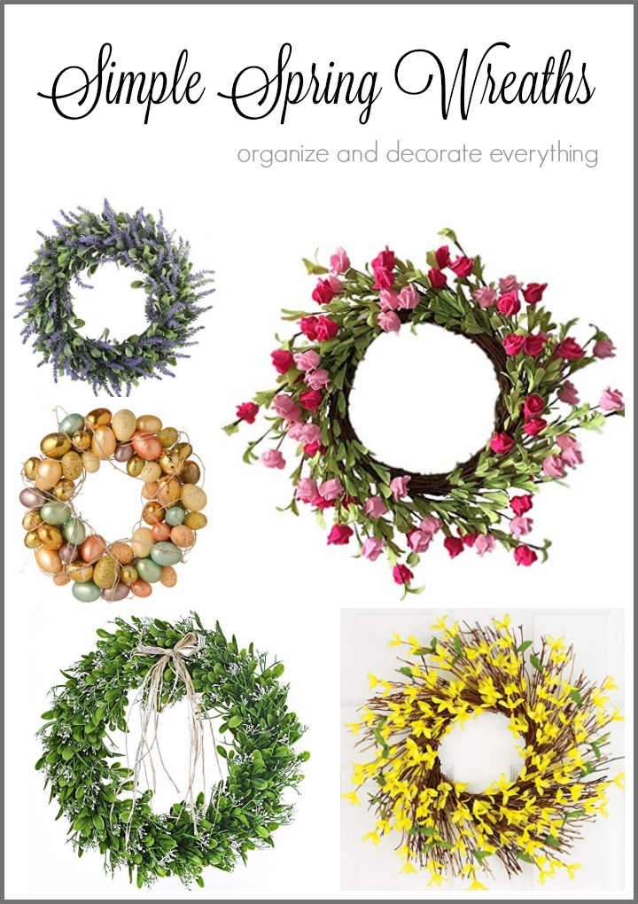 Simple Spring Wreaths