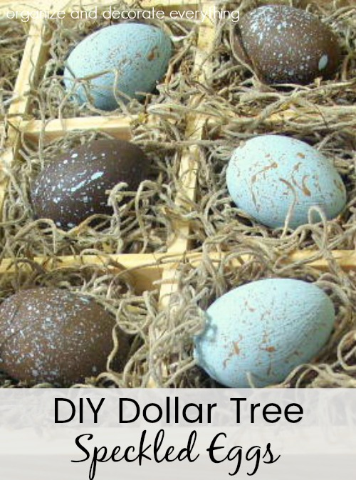 Dollar Tree Speckled Eggs to make for Spring or Easter