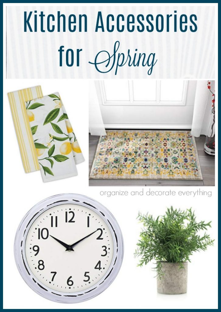 Kitchen Accessories for Spring to brighten up your space quickly and inexpensively