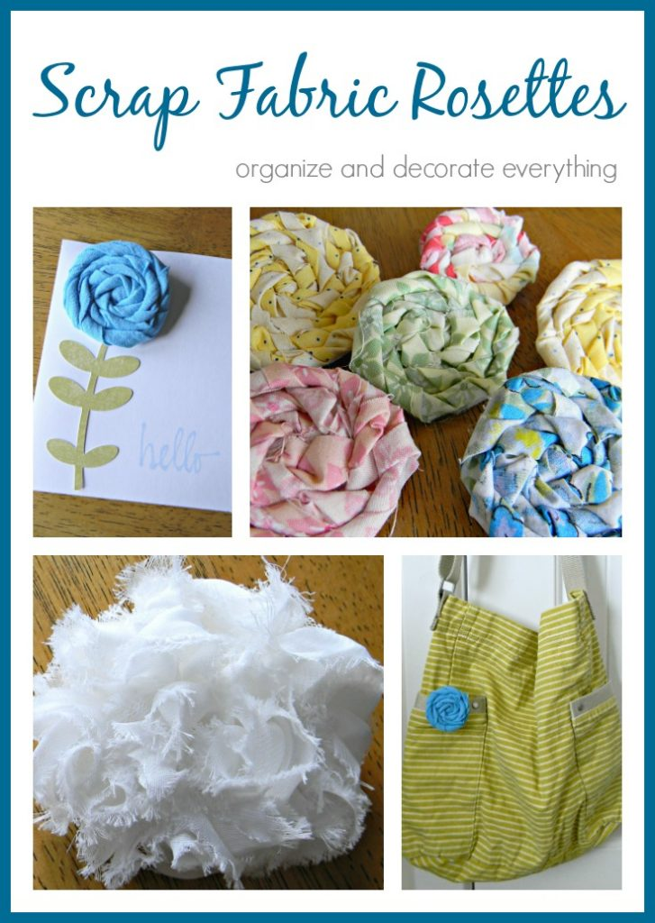 Scrap Fabric Rosettes are a beautiful way to use fabric scraps