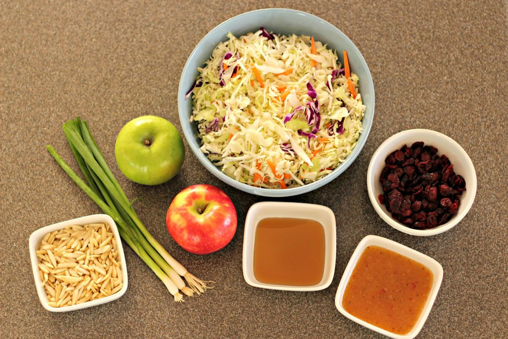 Apple Cranberry Slaw ingredients