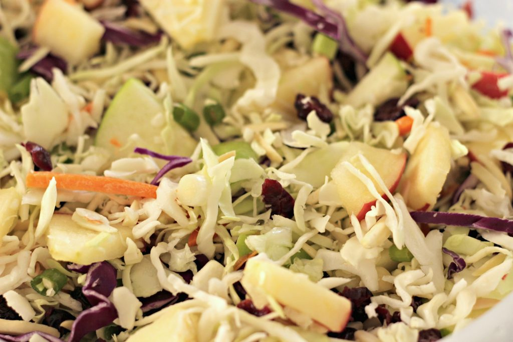 Apple Cranberry Slaw mixture